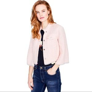 RACHEL Rachel Roy Pink Tweed Cropped Blazer Jacket